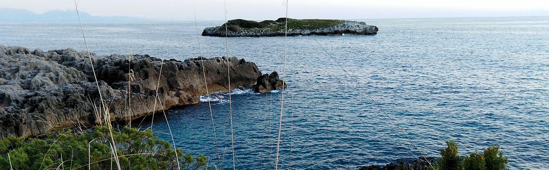 Cilento, the coast of Campania seen from the sea