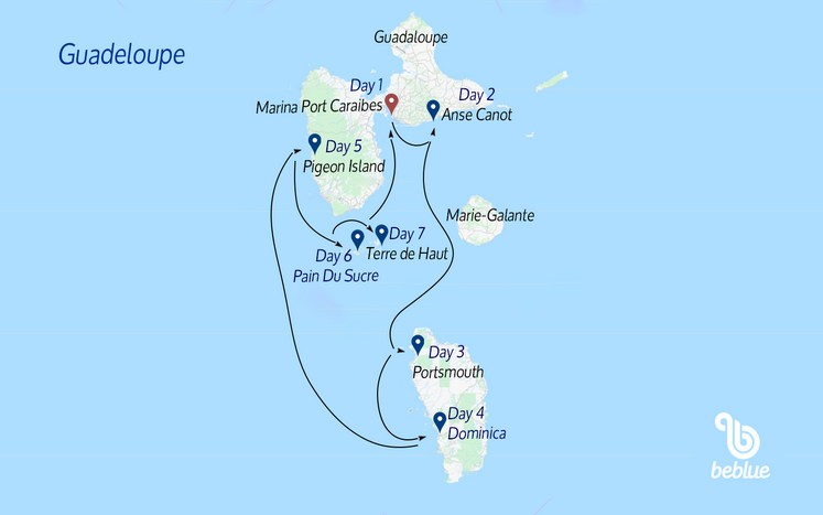 105 Guadeloupe and the French Antilles: catamaran cruise