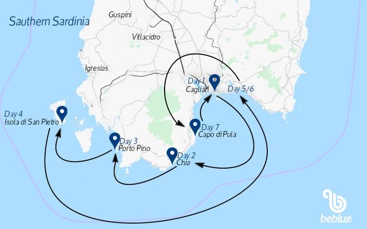 442 Sailing cruise: Southern Sardinia from Cagliari