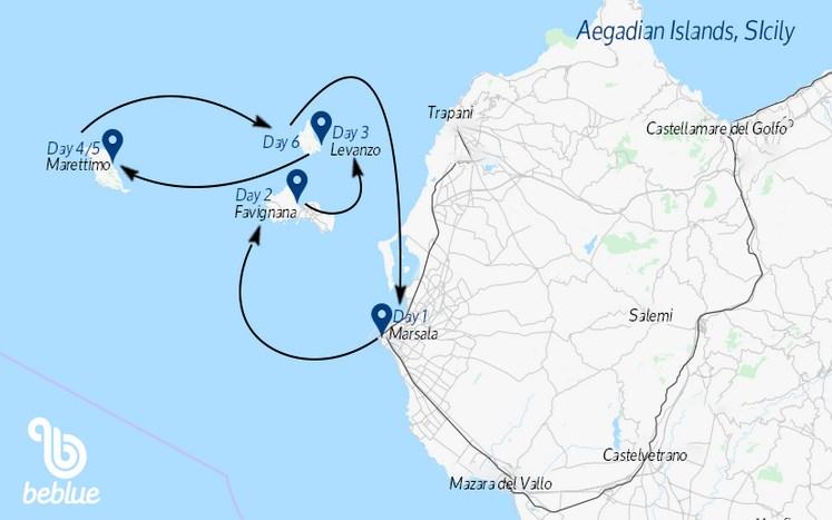 301 Sailing cruises to the Aegadian Islands, Italy