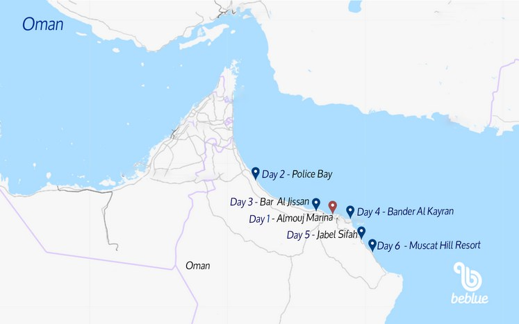 266 Oman: catamaran sailing cruise