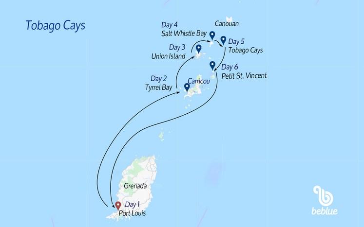 299 Tobago Cays da Grenada: crociera in catamarano