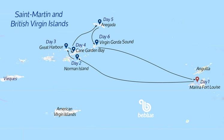 300 Saint-Martin e Isole Vergini Britanniche in catamarano