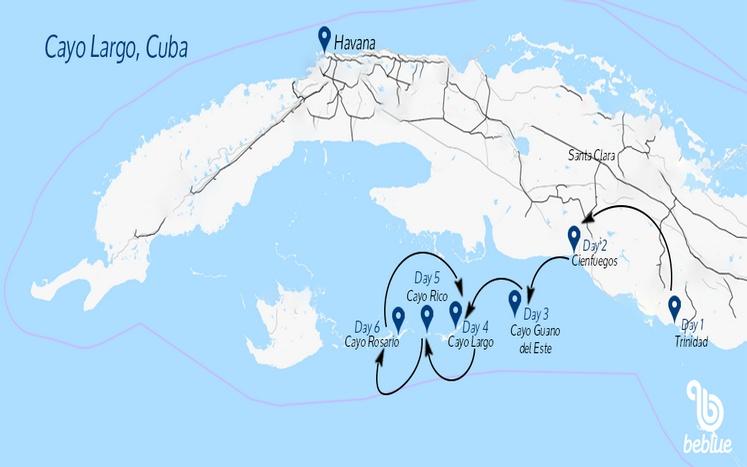 325 Flottiglia di Capodanno: Cayo Largo e Cuba