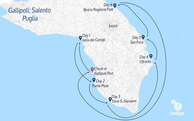 360 Crociere a vela: Gallipoli, il Salento e la Puglia