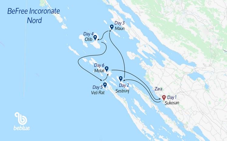 388 NORTH Befree Flotilla: Kornati Islands, Croatia