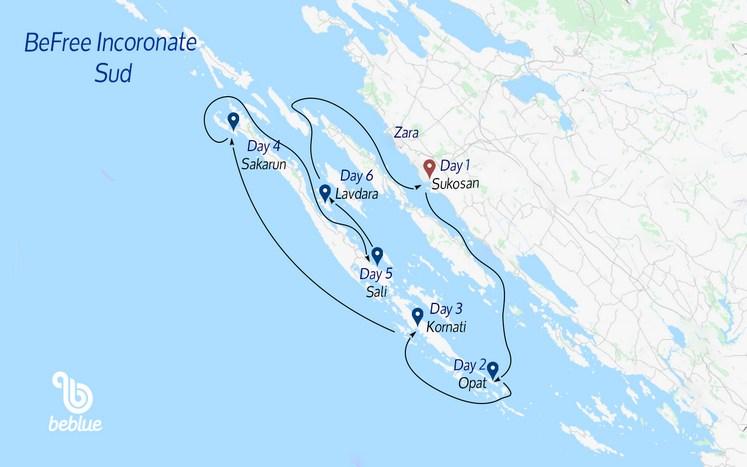 388 SOUTH Befree Flotilla: Kornati Islands, Croatia
