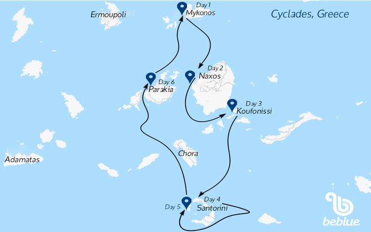 401-1 Crociera con equipaggio: Isole Cicladi da Mykonos, Grecia
