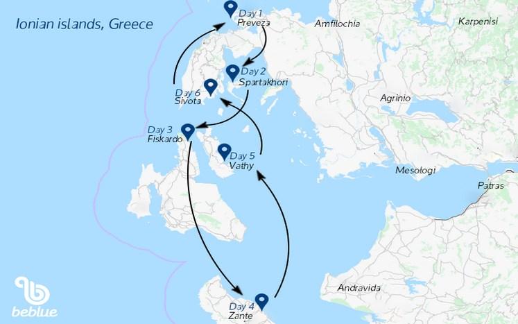 402-1 Crociera con equipaggio: Isole Ioniche, Grecia
