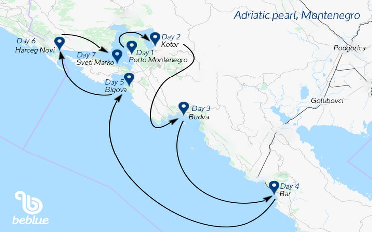 422 Gulet cruise: Montenegro the pearl of Adriatic