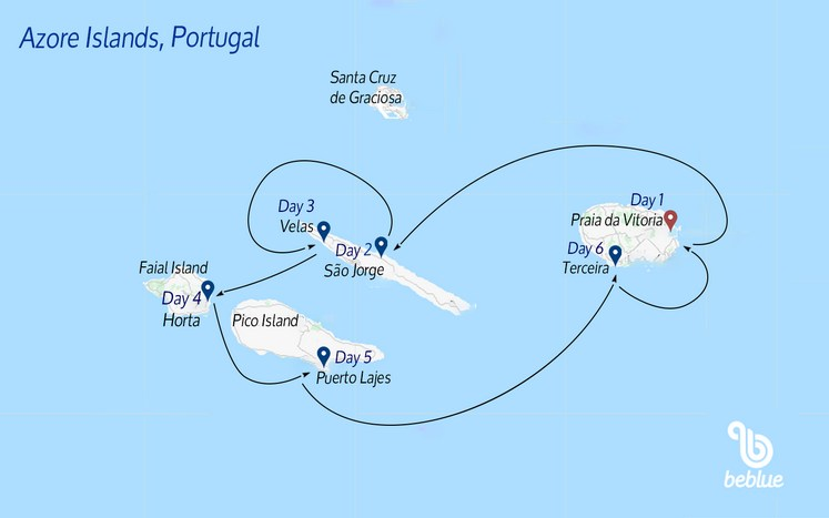 424 Sailing boat crewed cruise: Azores, Portugal