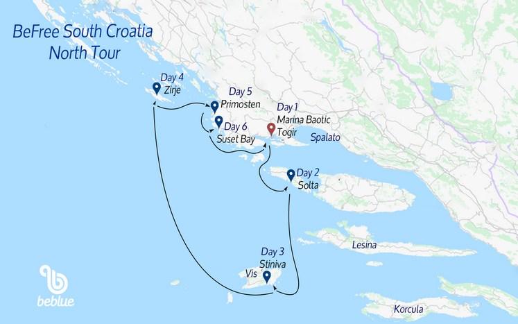 439 Nord Flottiglia Befree: Croazia del Sud da Spalato