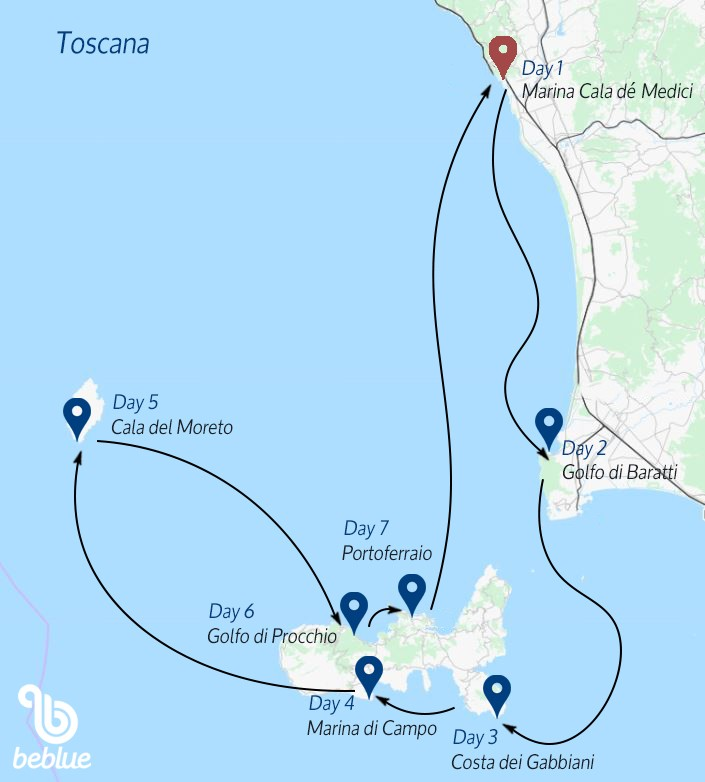 441 Tuscan Archipelago: sailing cruise