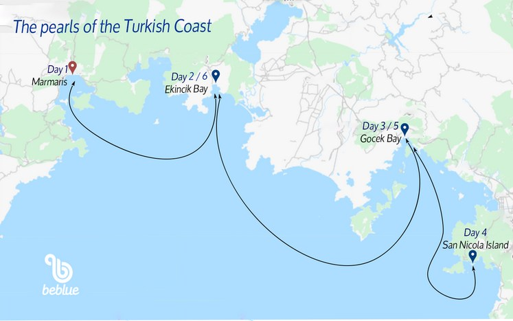 85 Sailing Cruises: the Pearls of the Turkish Riviera
