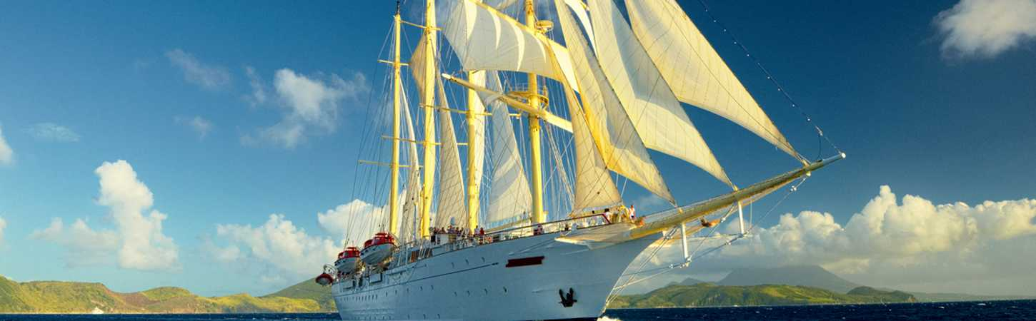 Sailing cruises, trips on past